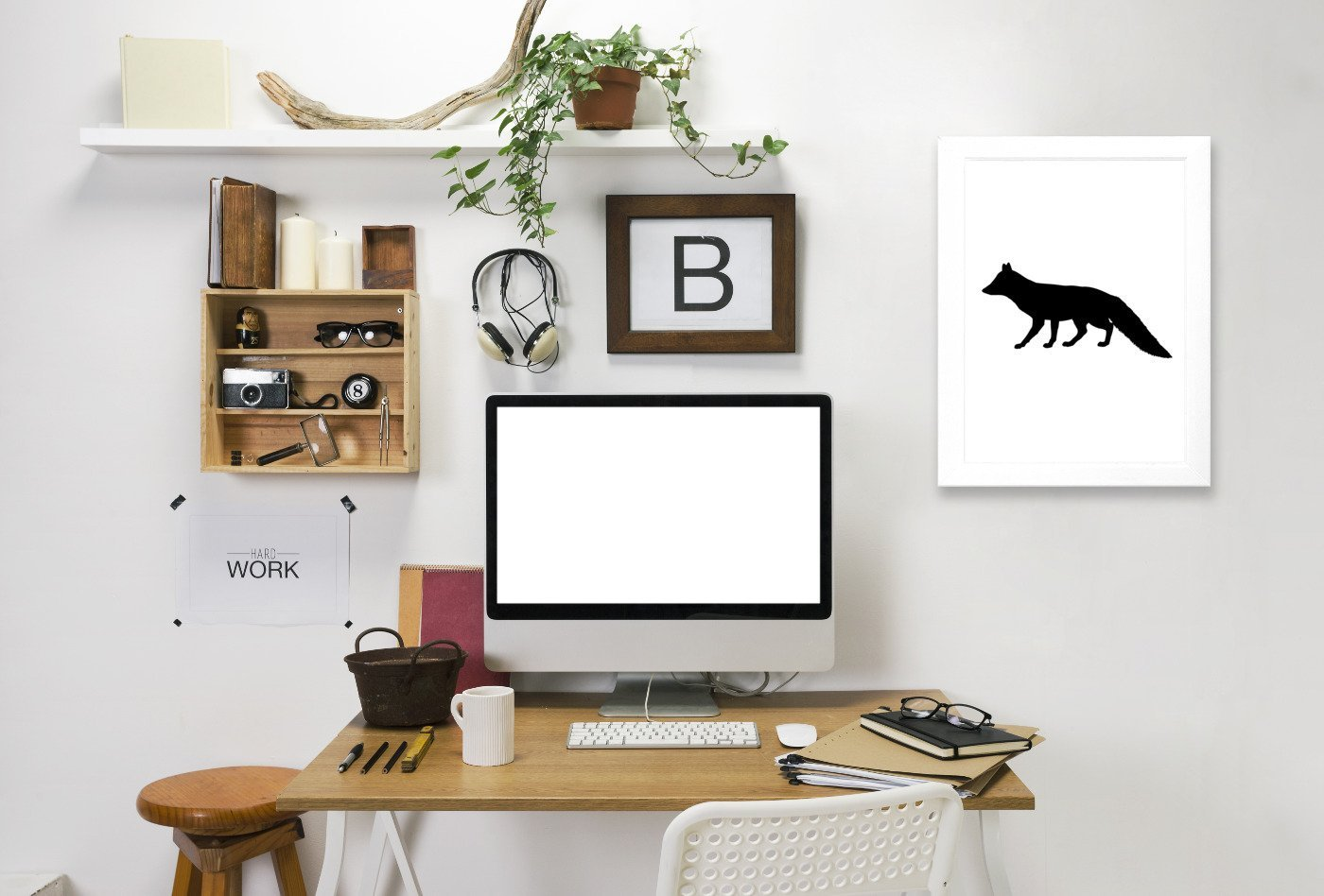 Black Fox by Jetty Printables Framed Print - Wall Art - Americanflat