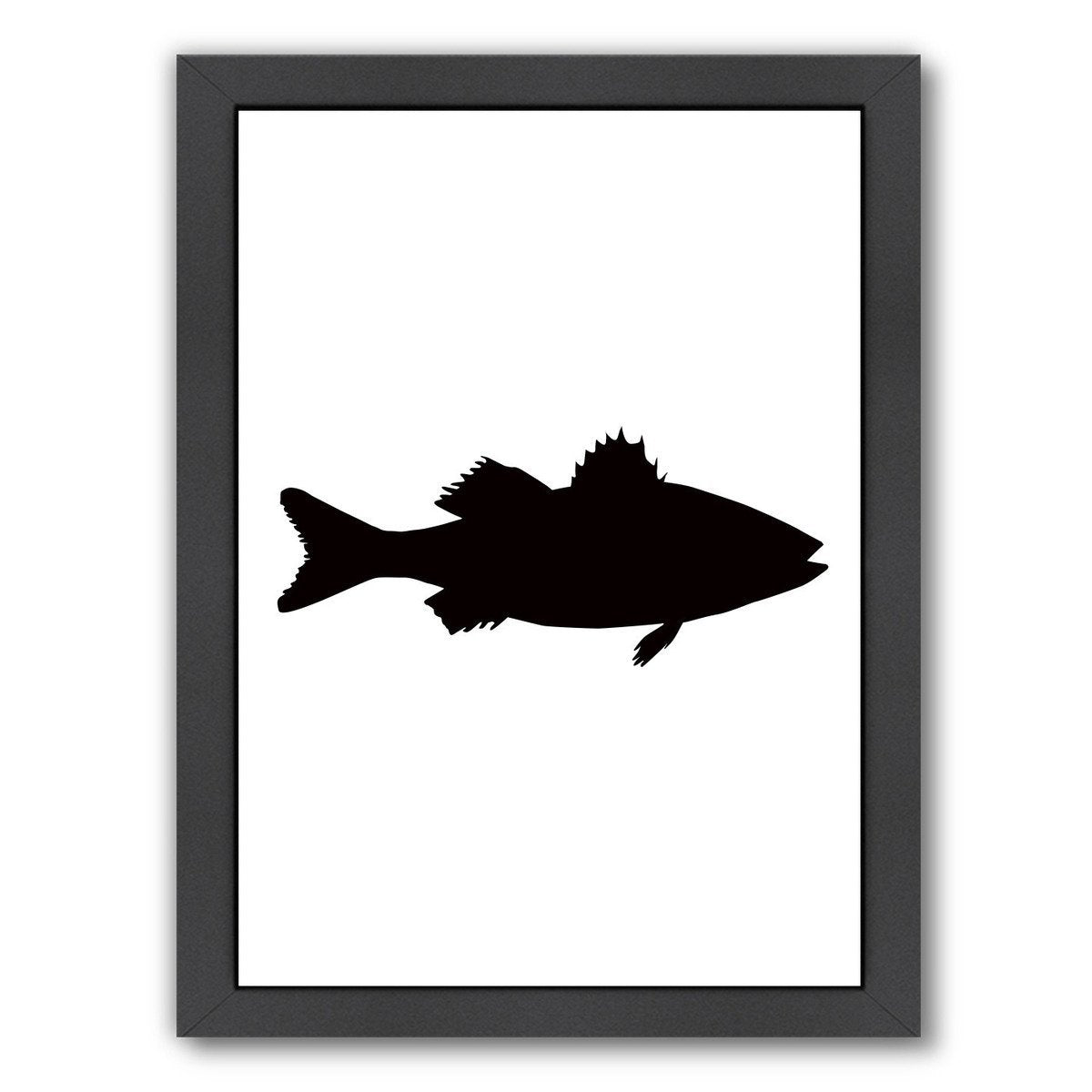 Black Sea Bass by Jetty Printables Framed Print - Wall Art - Americanflat
