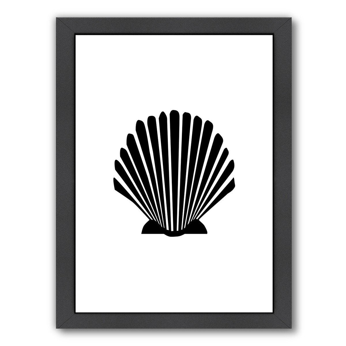 Black Shell by Jetty Printables Framed Print - Wall Art - Americanflat