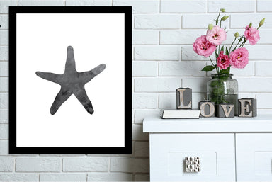 Black Starfish by Jetty Printables Framed Print - Wall Art - Americanflat