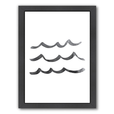 Black Waves by Jetty Printables Framed Print - Wall Art - Americanflat