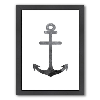 Black White Anchor by Jetty Printables Framed Print - Wall Art - Americanflat