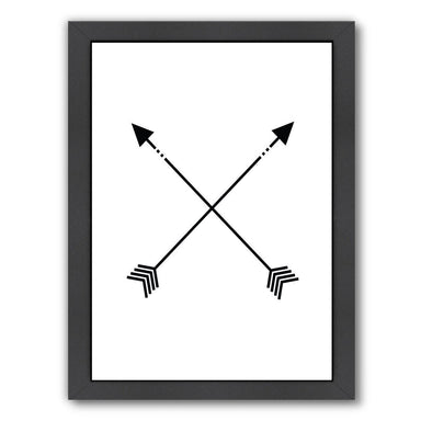 Black White Arrow by Jetty Printables Framed Print - Wall Art - Americanflat