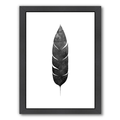 Black White Faded Feather  co by Jetty Printables Framed Print - Wall Art - Americanflat