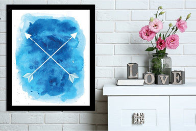 Blue Watercolor Arrow by Jetty Printables Framed Print - Wall Art - Americanflat