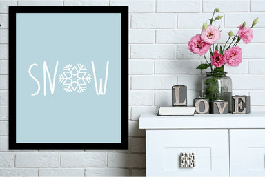 Blue White Snow  Snowflake by Jetty Printables Framed Print - Wall Art - Americanflat