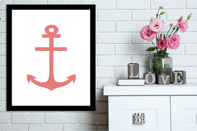 Coral Anchor by Jetty Printables Framed Print - Wall Art - Americanflat
