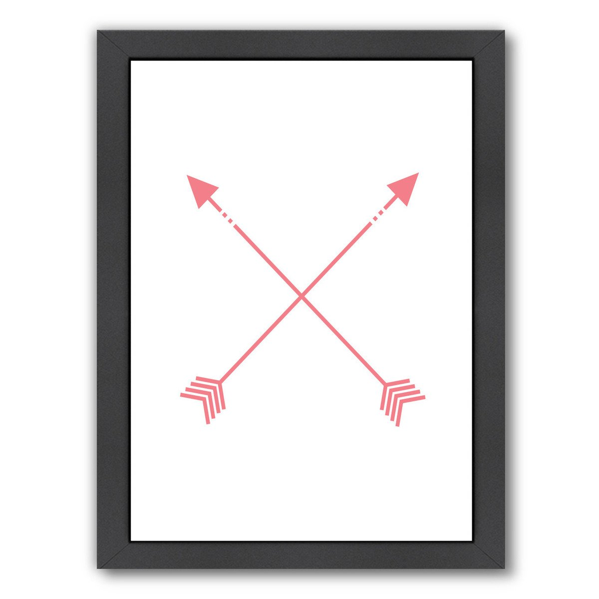 Coral Arrow by Jetty Printables Framed Print - Wall Art - Americanflat