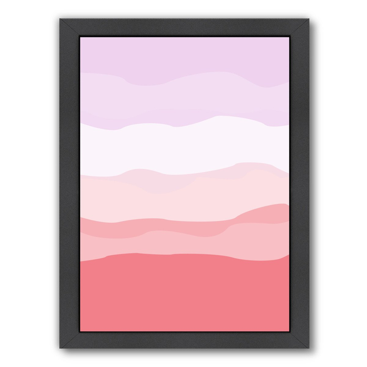 Coral Lavender Abstract by Jetty Printables Framed Print - Wall Art - Americanflat