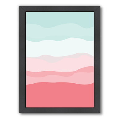 Coral Mint Abstract by Jetty Printables Framed Print - Wall Art - Americanflat