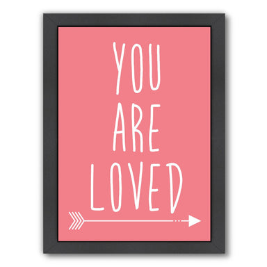 Coral You Are Loved by Jetty Printables Framed Print - Wall Art - Americanflat
