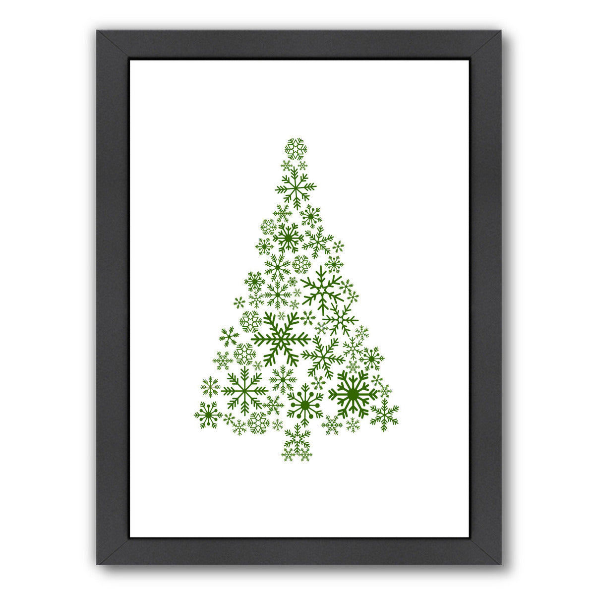 Green Snowflake Tree by Jetty Printables Framed Print - Wall Art - Americanflat
