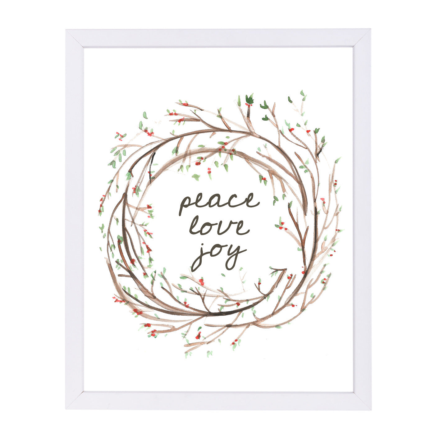 Peace Love Jo by Jetty Printables Framed Print - Americanflat