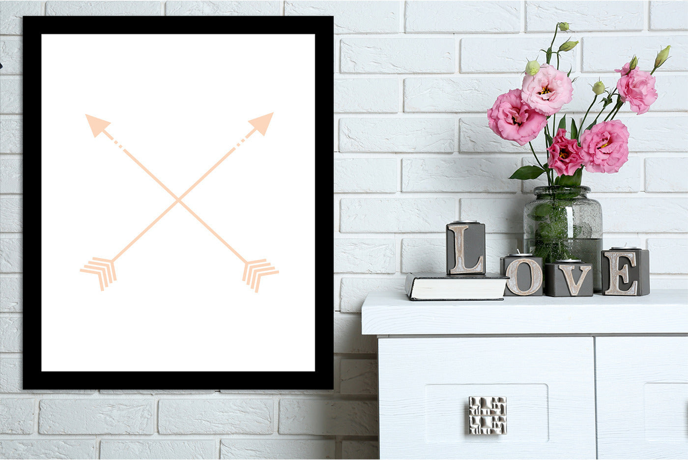 Peach Arrow by Jetty Printables Framed Print - Wall Art - Americanflat