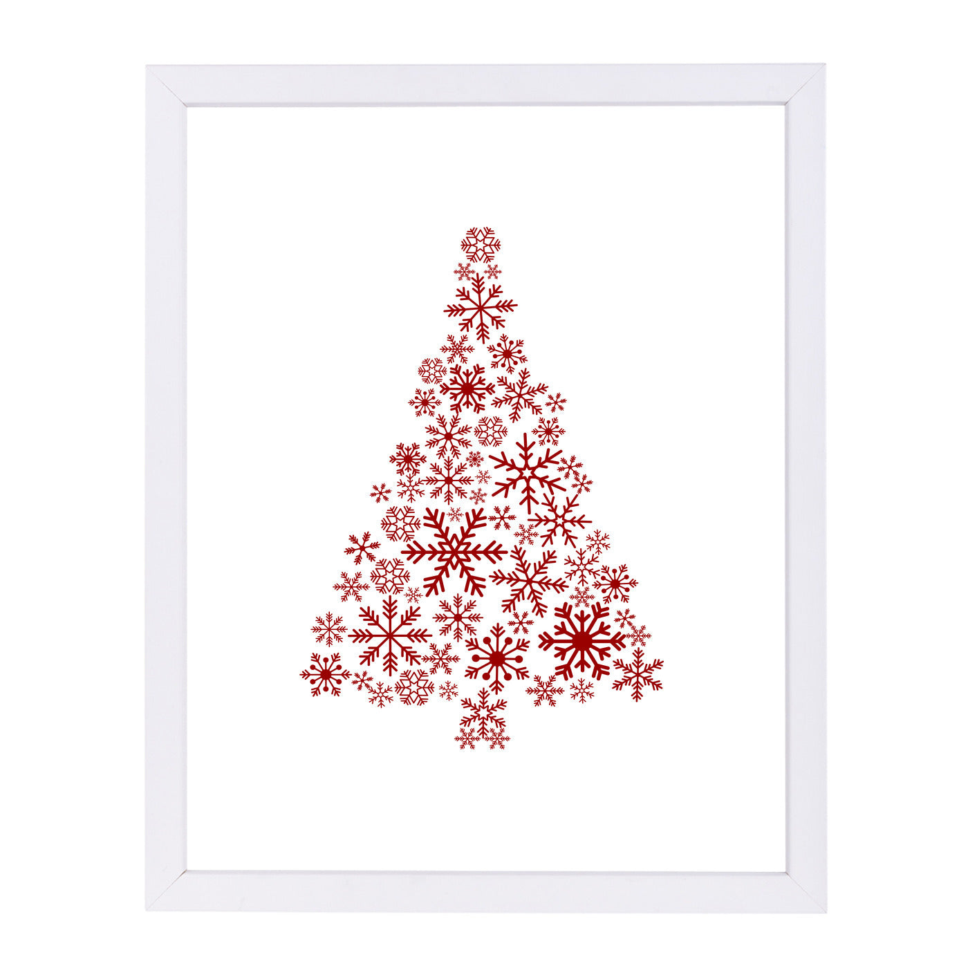 Red Snowflake Tree by Jetty Printables Framed Print - Wall Art - Americanflat