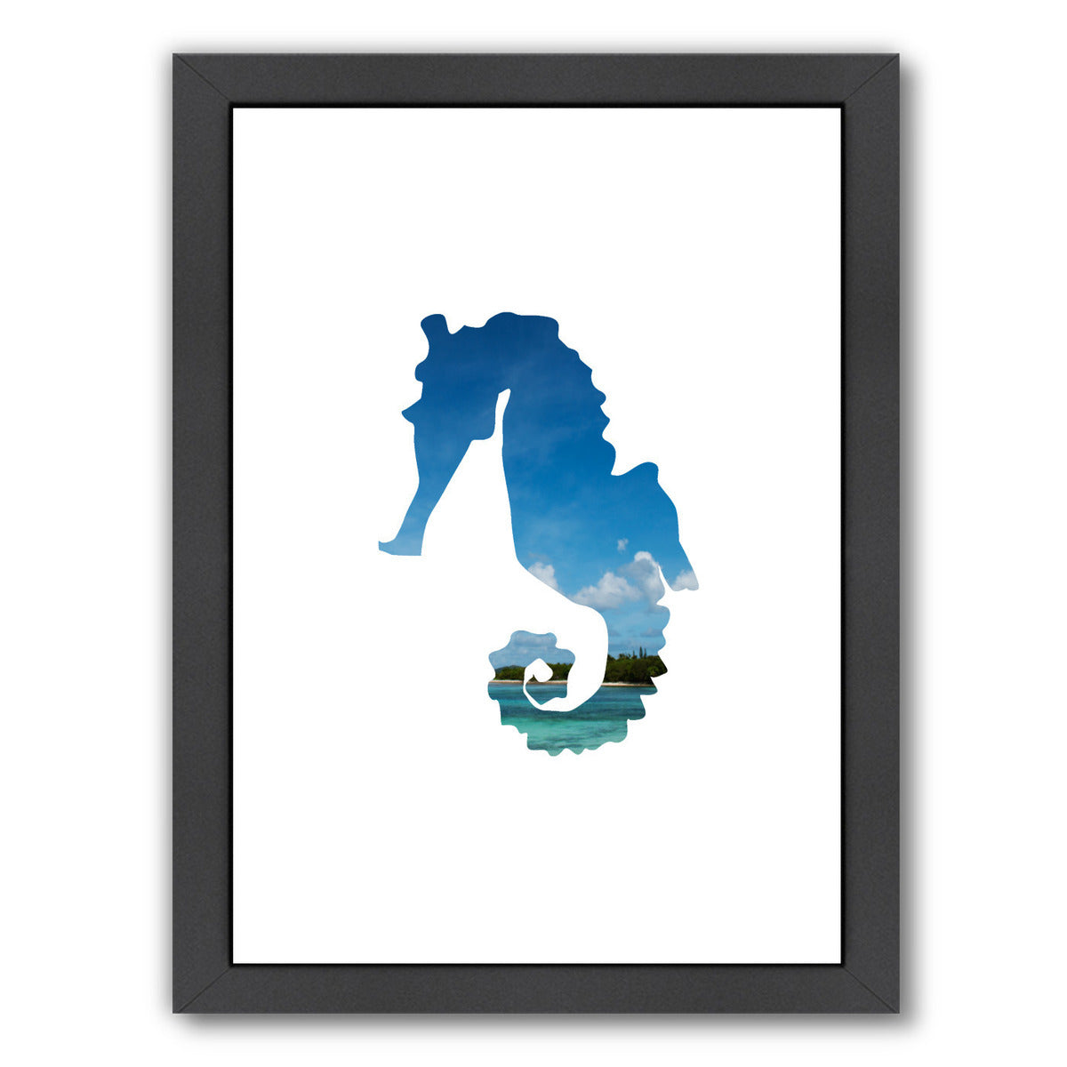Tropical Seahorse by Jetty Printables Framed Print - Wall Art - Americanflat