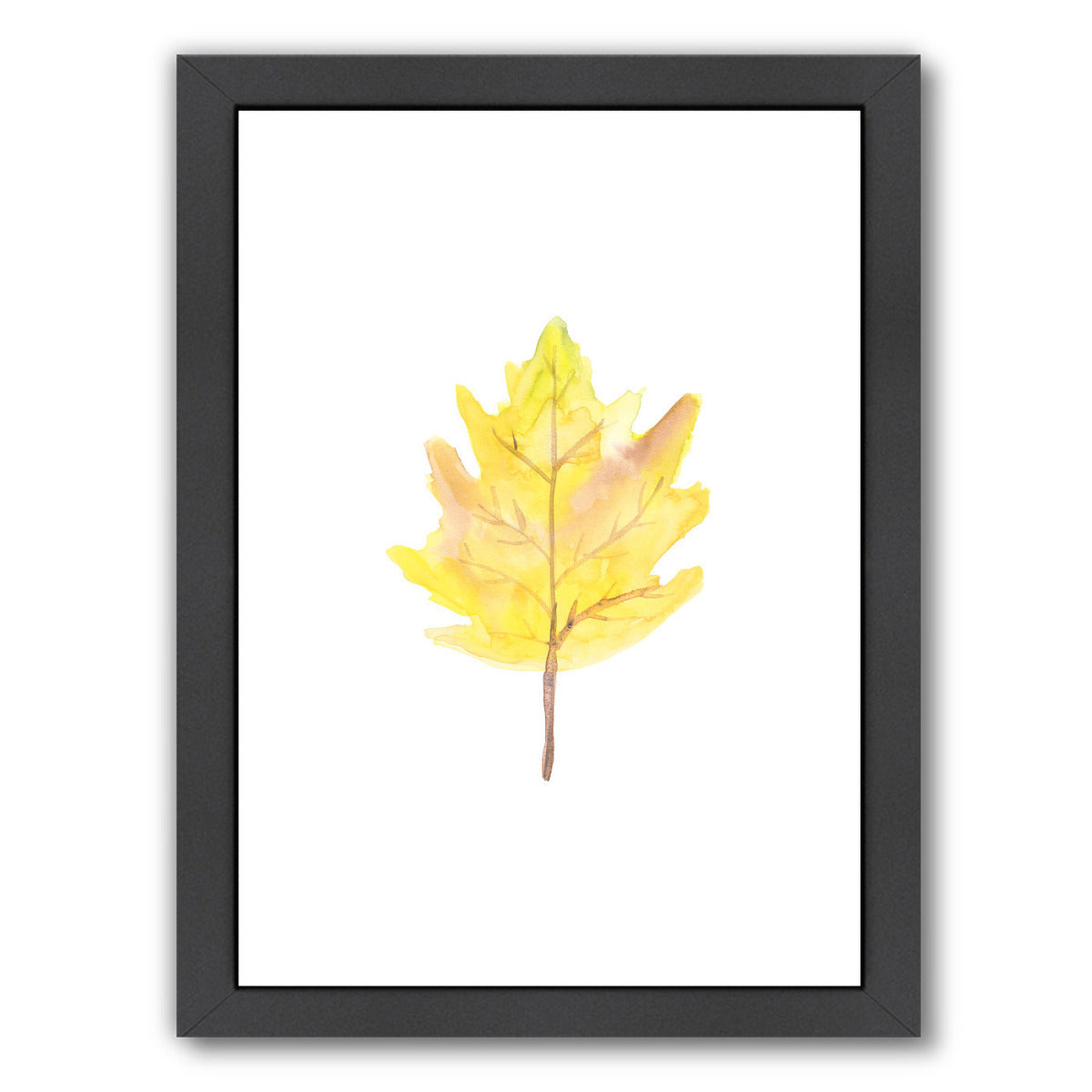 Watercolor 2 Leaf by Jetty Printables Framed Print - Wall Art - Americanflat