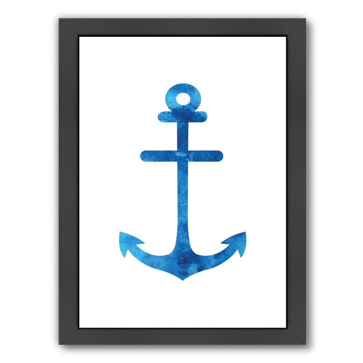 Watercolor Blue Anchor by Jetty Printables Framed Print - Wall Art - Americanflat