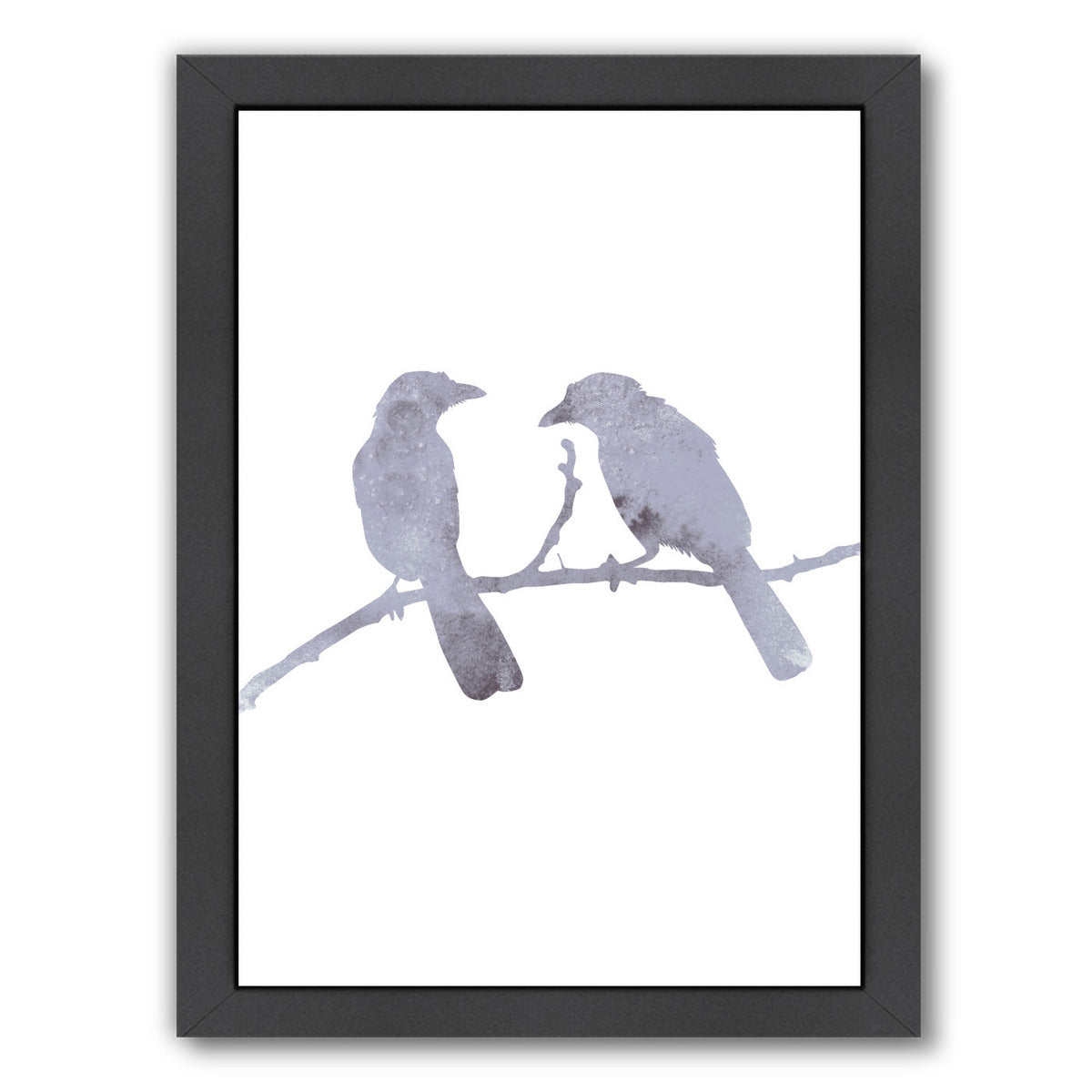 Watercolor Gray Birds by Jetty Printables Framed Print - Wall Art - Americanflat