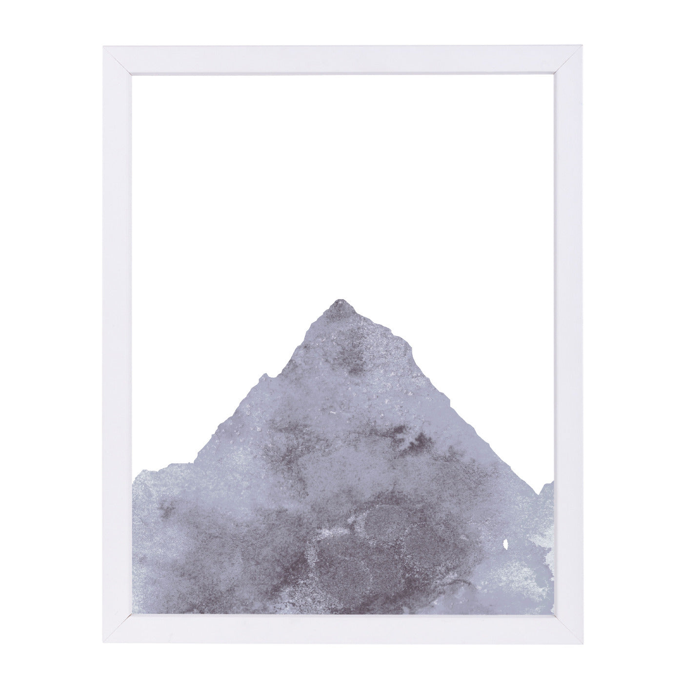 Watercolor Gray Mountain 1 by Jetty Printables Framed Print - Americanflat