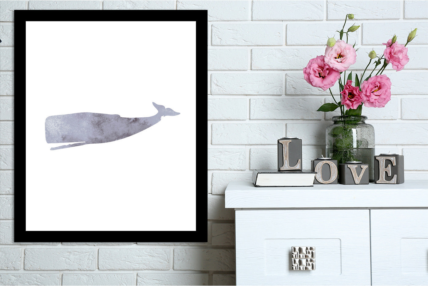 Watercolor Grey Whale by Jetty Printables Framed Print - Wall Art - Americanflat