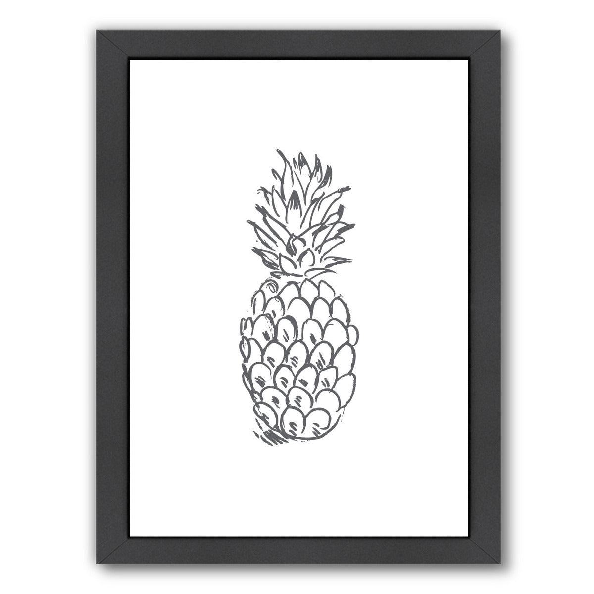 Gray Pineapple  by Jetty Printables Framed Print - Wall Art - Americanflat