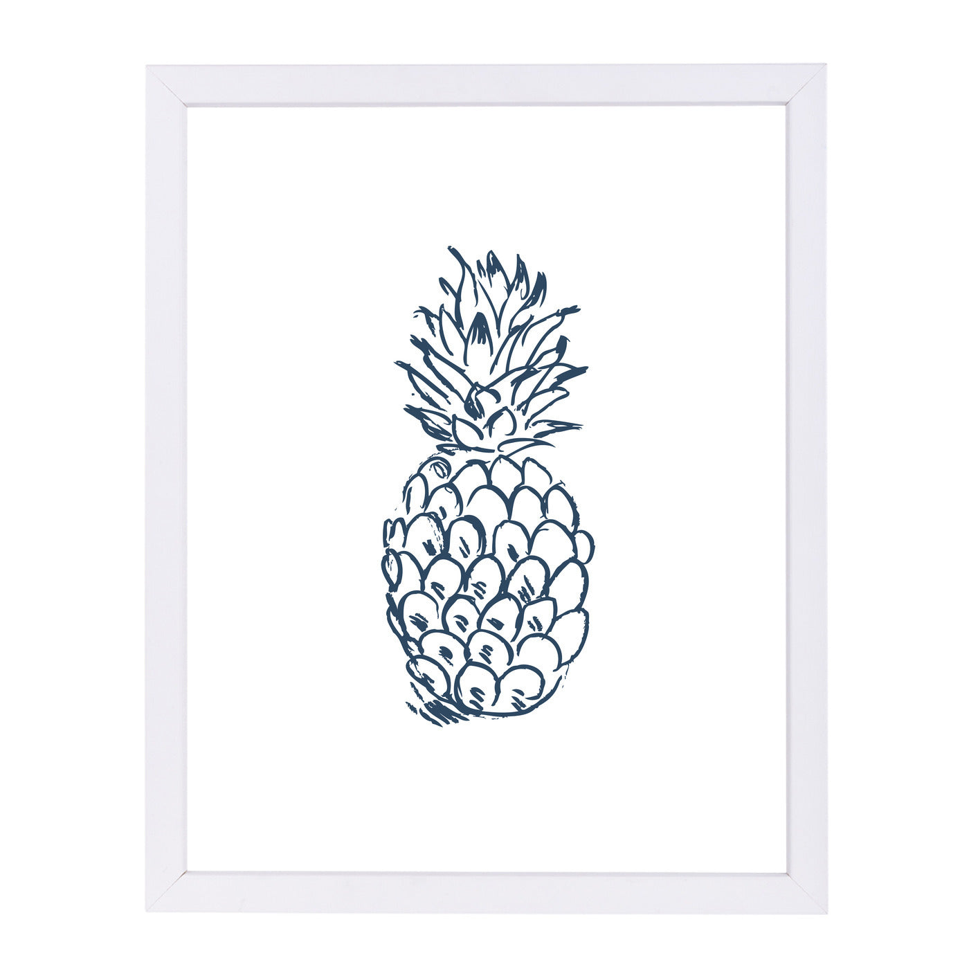 Navy Blue Pineapple  by Jetty Printables Framed Print - Wall Art - Americanflat