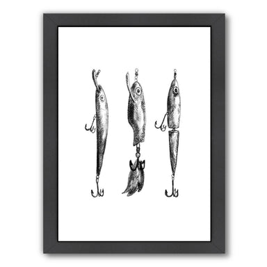 Lure Fishing Illustration by Jetty Printables Framed Print - Wall Art - Americanflat
