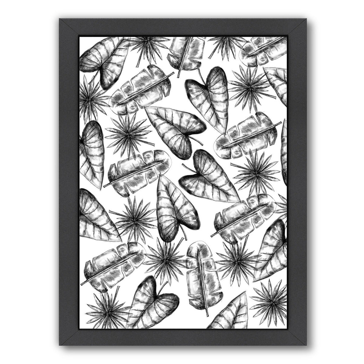 Palm Leaf Pattern by Jetty Printables Framed Print - Wall Art - Americanflat