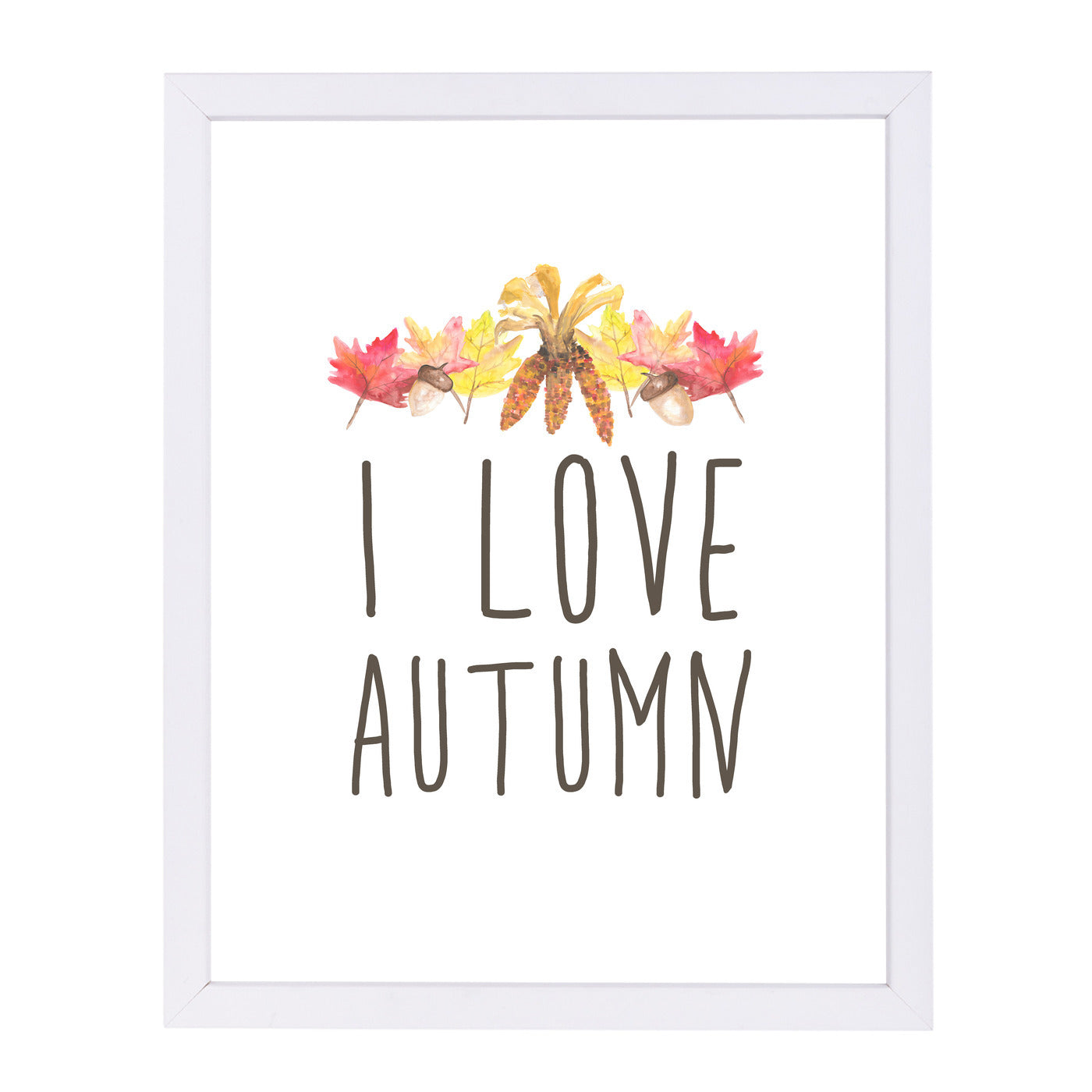 I Love Autumn Typography by Jetty Printables Framed Print - Wall Art - Americanflat