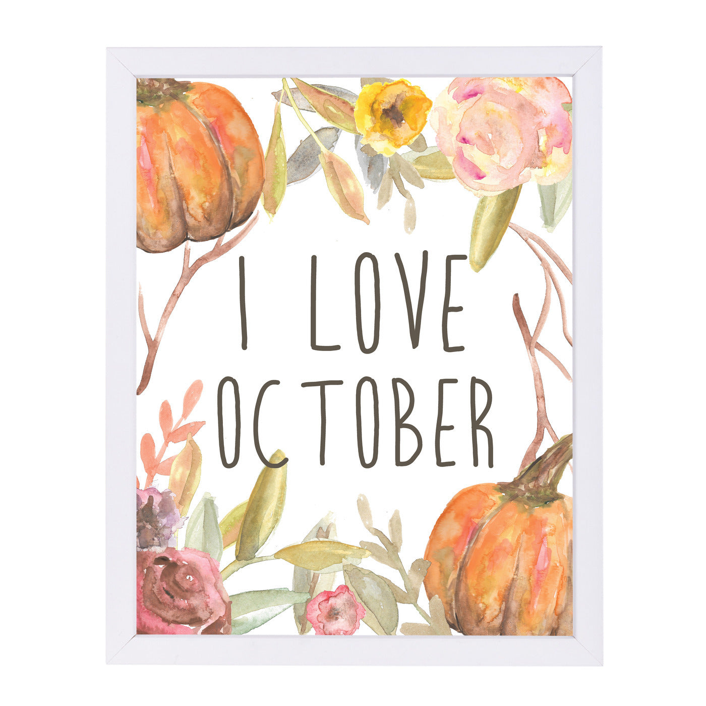 I Love October by Jetty Printables Framed Print - Wall Art - Americanflat