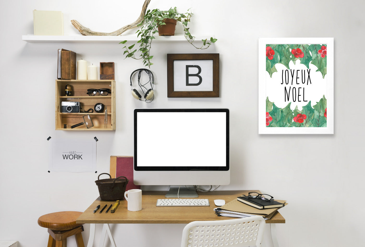 Joyeux Noel by Jetty Printables Framed Print - Wall Art - Americanflat
