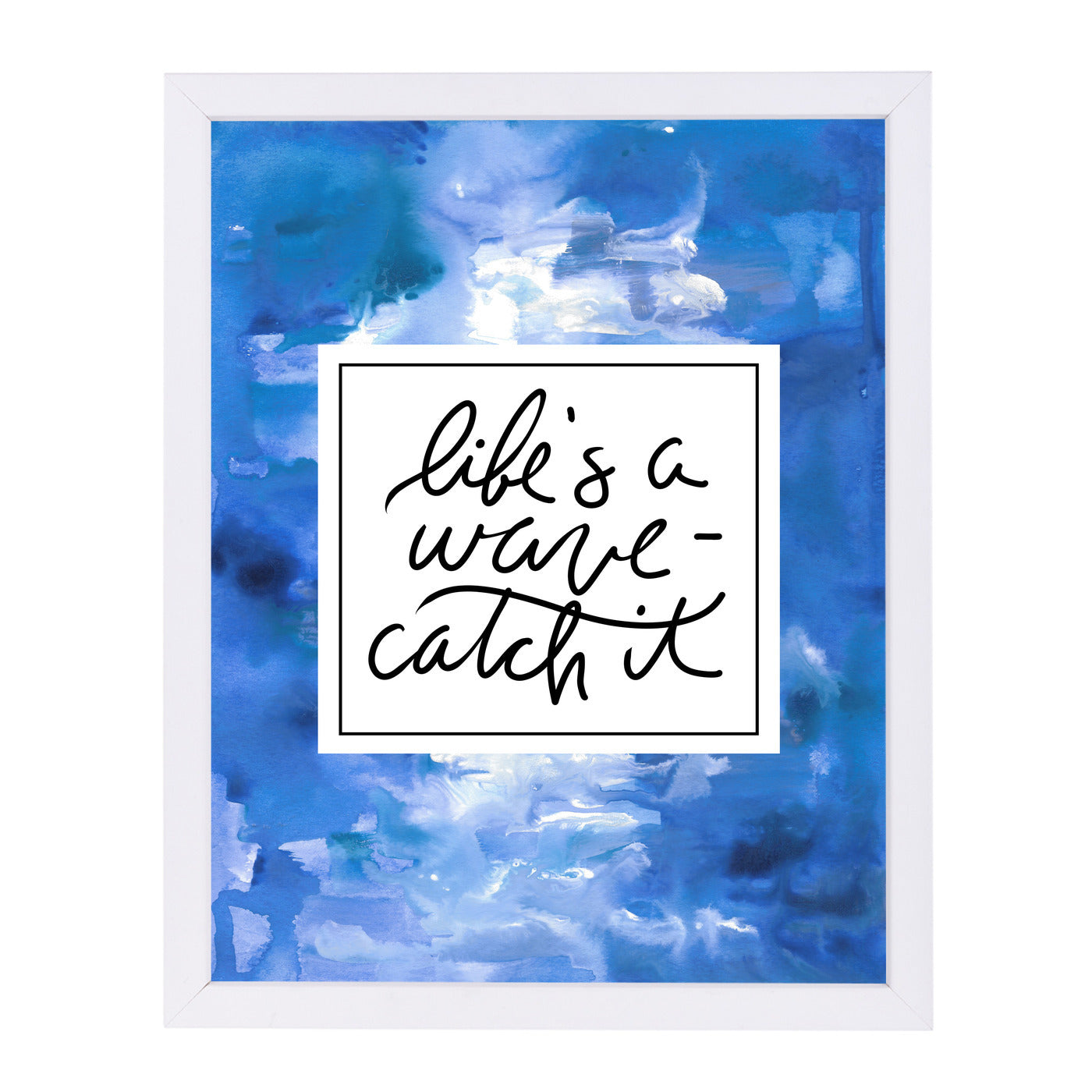 Life S A Wave, Catch It by Jetty Printables Framed Print - Wall Art - Americanflat