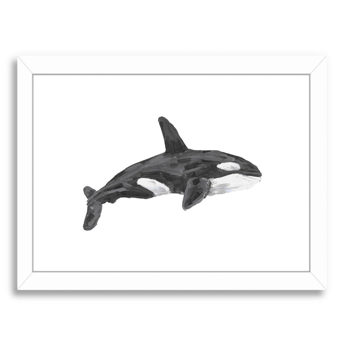 Orca Whale Art Print by Jetty Printables Framed Print - Wall Art - Americanflat