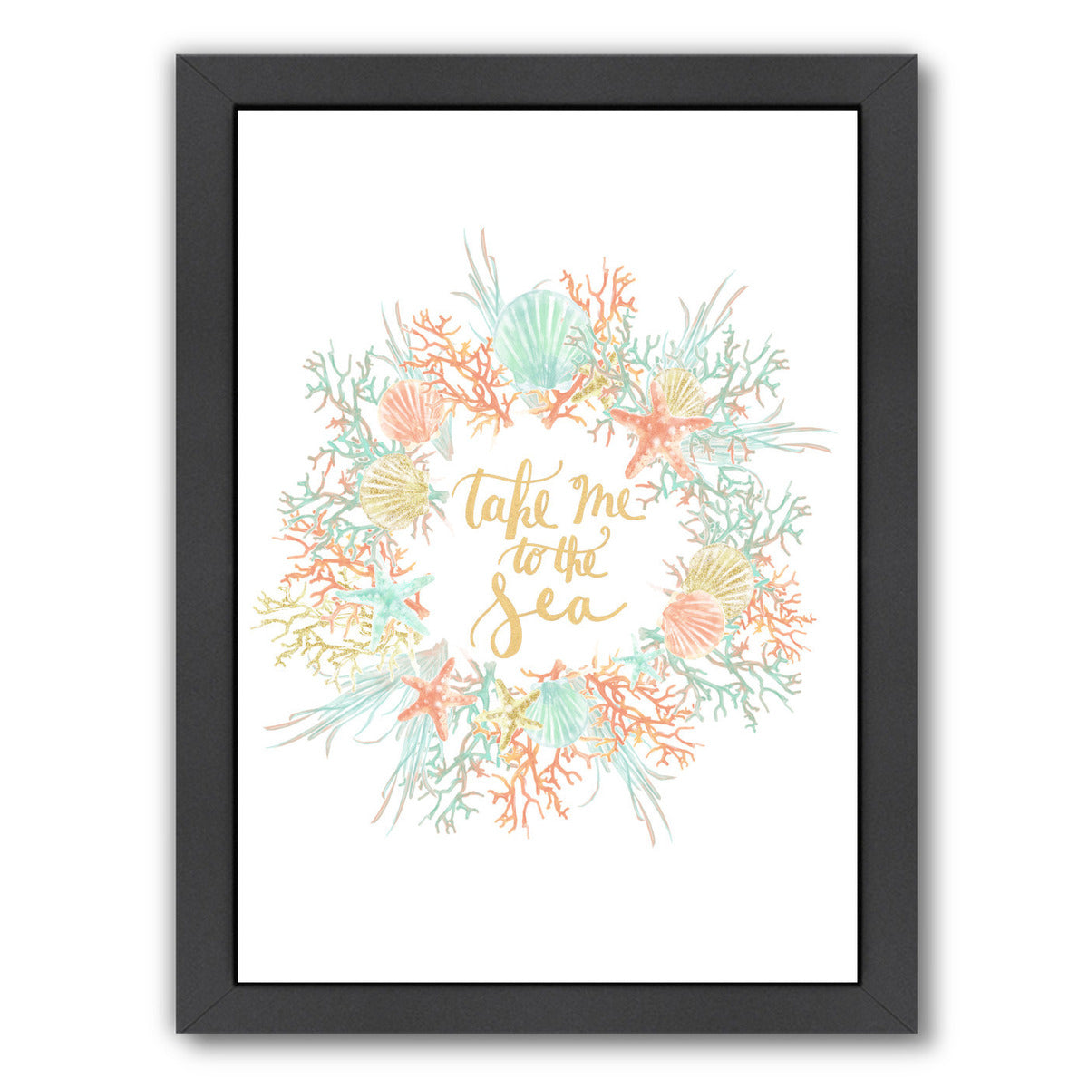 Take Me To The Sea Coastal Print by Jetty Printables Framed Print - Wall Art - Americanflat