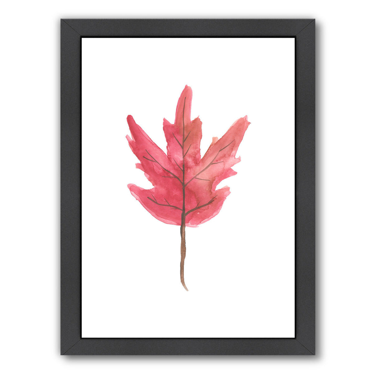 Watercolor Autumn Leaf by Jetty Printables Framed Print - Wall Art - Americanflat