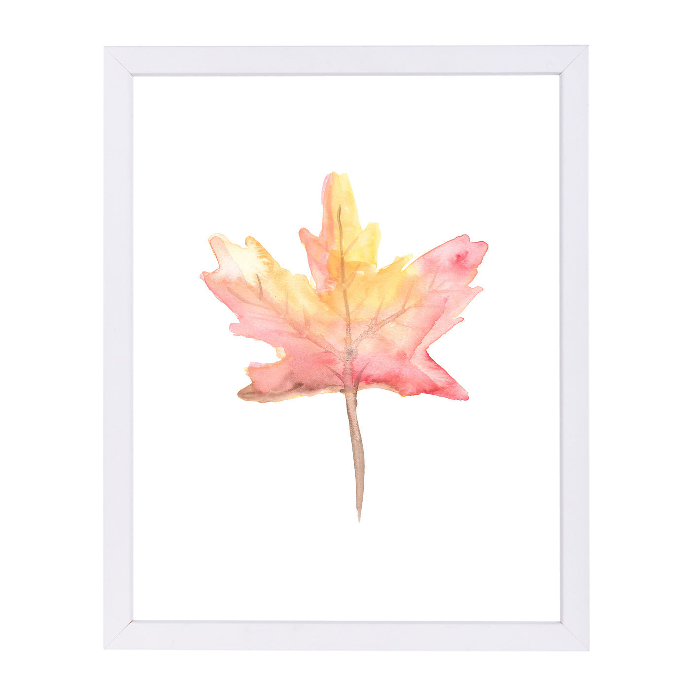 Watercolor Autumnal Fall Leaf by Jetty Printables Framed Print - Wall Art - Americanflat