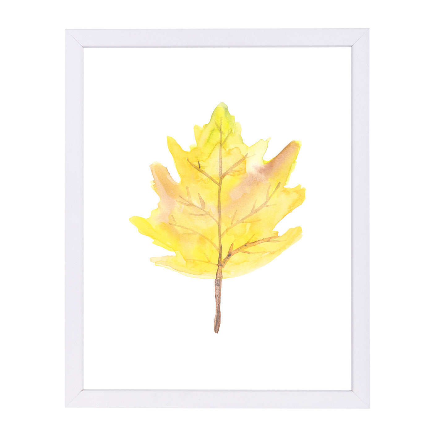Watercolor Yellow Leaf by Jetty Printables Framed Print - Wall Art - Americanflat