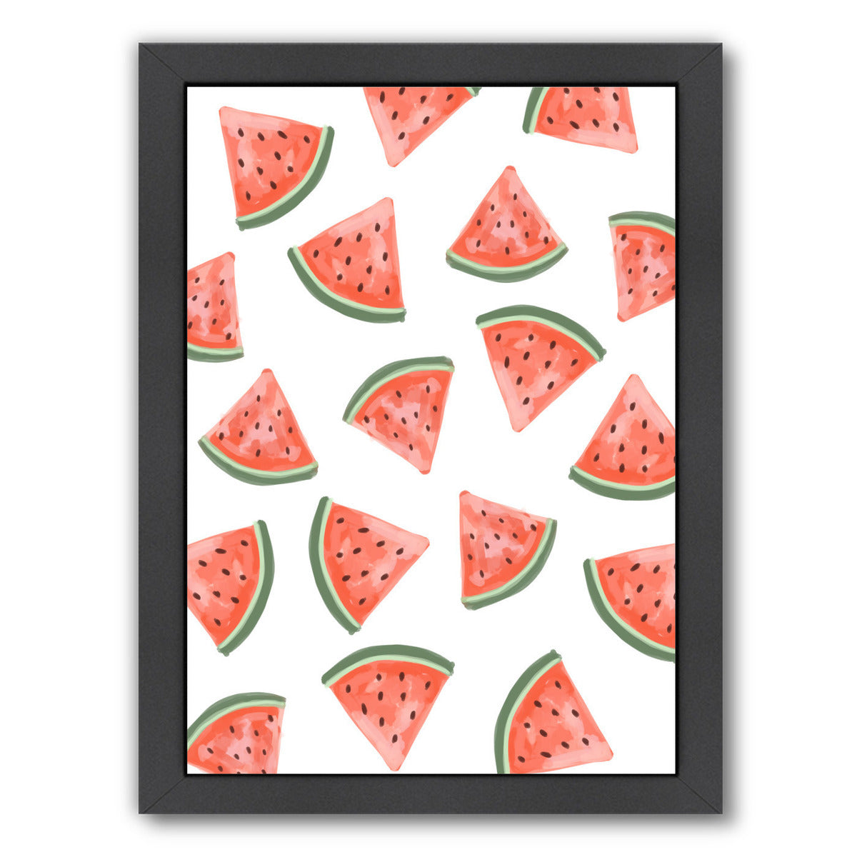 Watermelon Pattern by Jetty Printables Framed Print - Wall Art - Americanflat