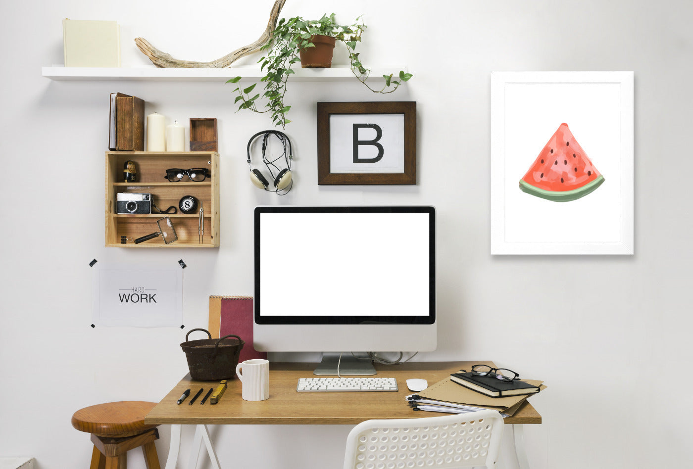 Watermelon Slice by Jetty Printables Framed Print - Americanflat