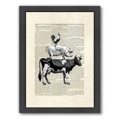 cow stack by Matt Dinniman Framed Print - Wall Art - Americanflat