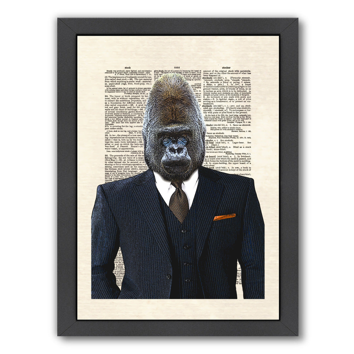 Gorilla by Matt Dinniman Framed Print - Wall Art - Americanflat