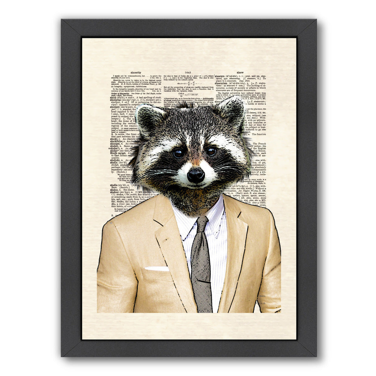 raccoon by Matt Dinniman Framed Print - Wall Art - Americanflat