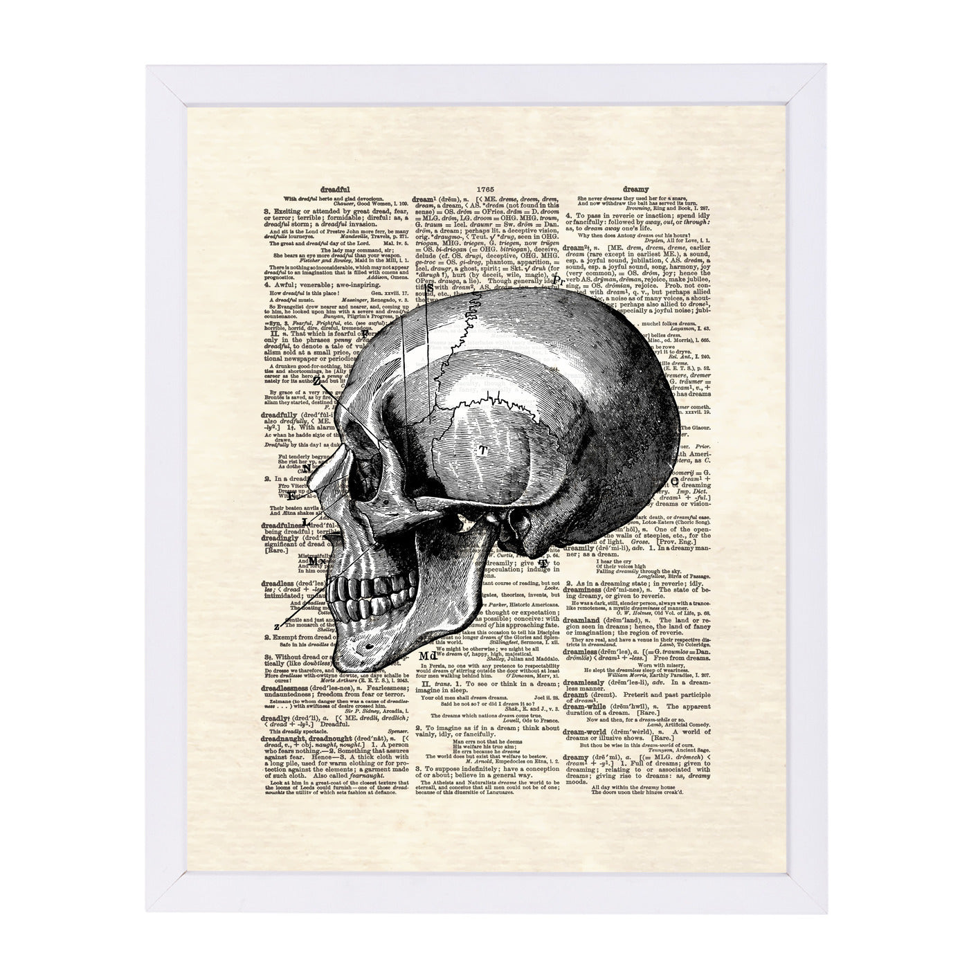 Skull by Matt Dinniman Framed Print - Wall Art - Americanflat