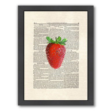 strawberry by Matt Dinniman Framed Print - Wall Art - Americanflat