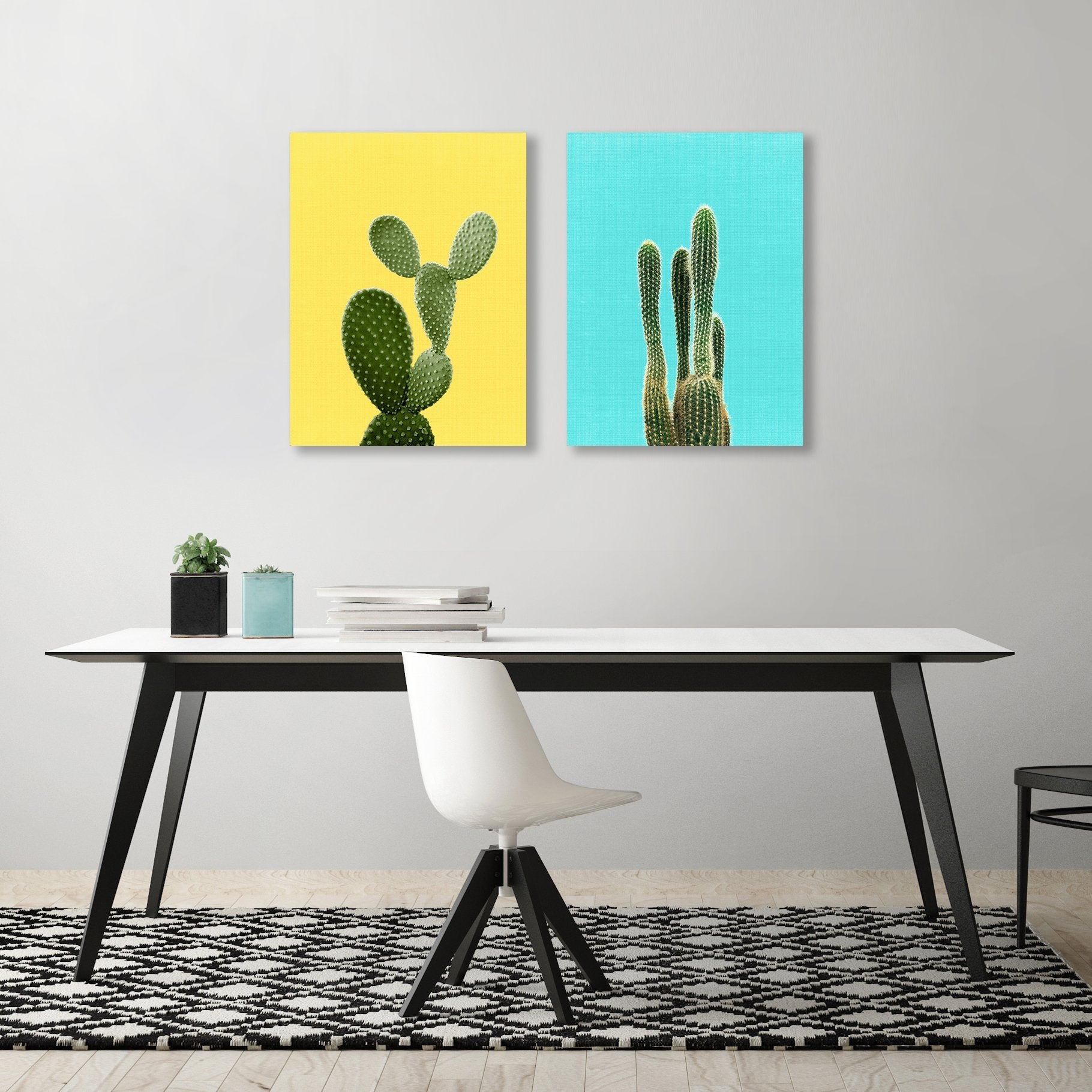 Cactus by LILA + LOLA  - 2 Piece Gallery Wrapped Canvas Set - Art Set - Americanflat