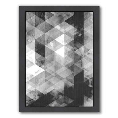 Geometric Grey by LILA + LOLA Framed Print - Wall Art - Americanflat