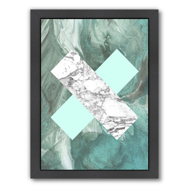 Geometric Marble X by LILA + LOLA Black Framed Print - Wall Art - Americanflat