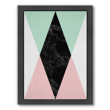 Geometric Pink Mint by LILA + LOLA Black Framed Print - Wall Art - Americanflat