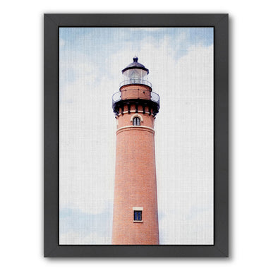 Light house Coral by LILA + LOLA Black Framed Print - Wall Art - Americanflat